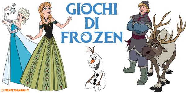 Giochi di Frozen da stampare gratis