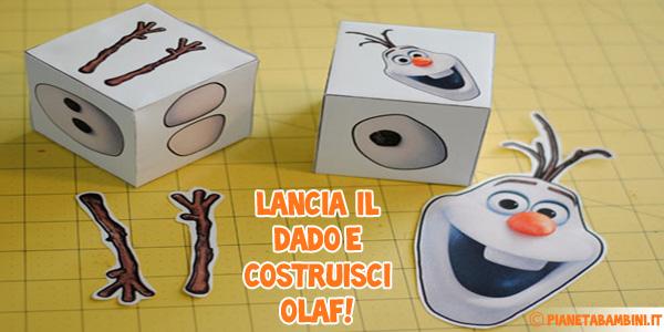 Costruisci Olaf con il dado magico
