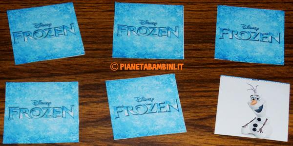 Gioco memory di Frozen da stampare gratis