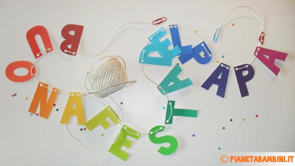 Come inserire il filo tra le lettere