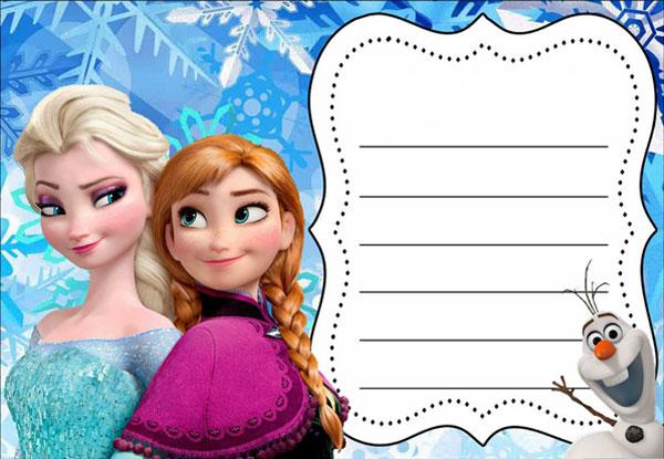 Biglietto di invito di Frozen n.01