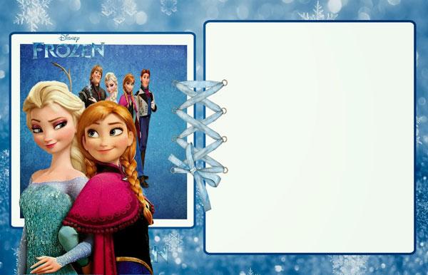 Biglietto di invito di Frozen n.02