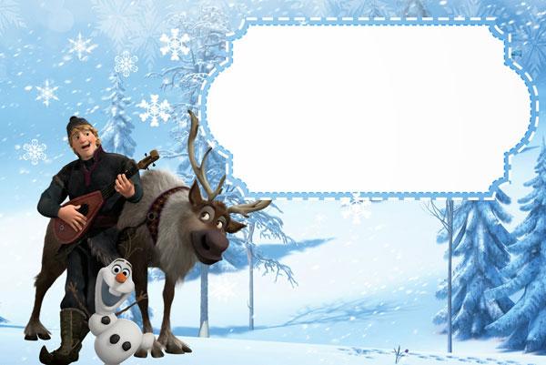 Biglietto di invito di Frozen n.04
