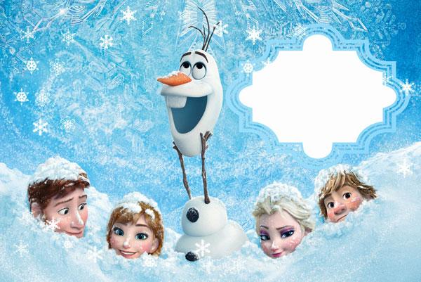 Biglietto di invito di Frozen n.11