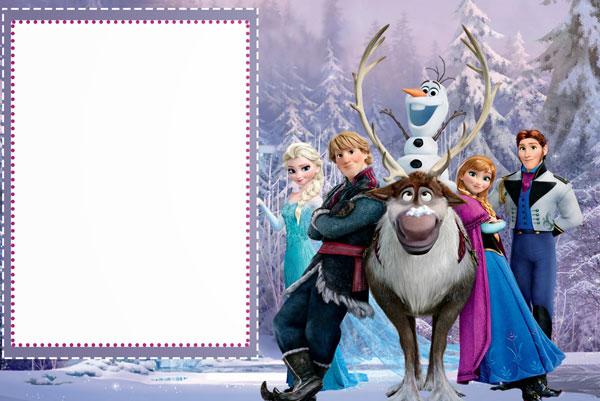 Biglietto di invito di Frozen n.12