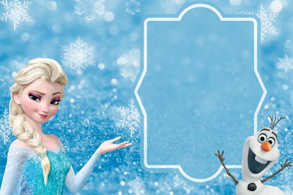 Biglietto di invito di Frozen n.13