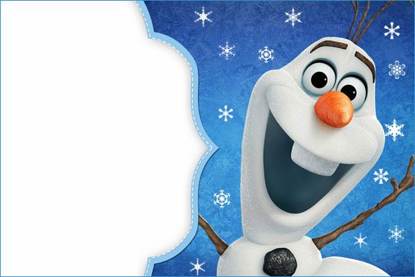 Biglietto di invito di Frozen n.14