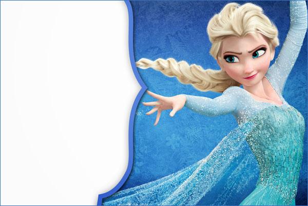 Biglietto di invito di Frozen n.16