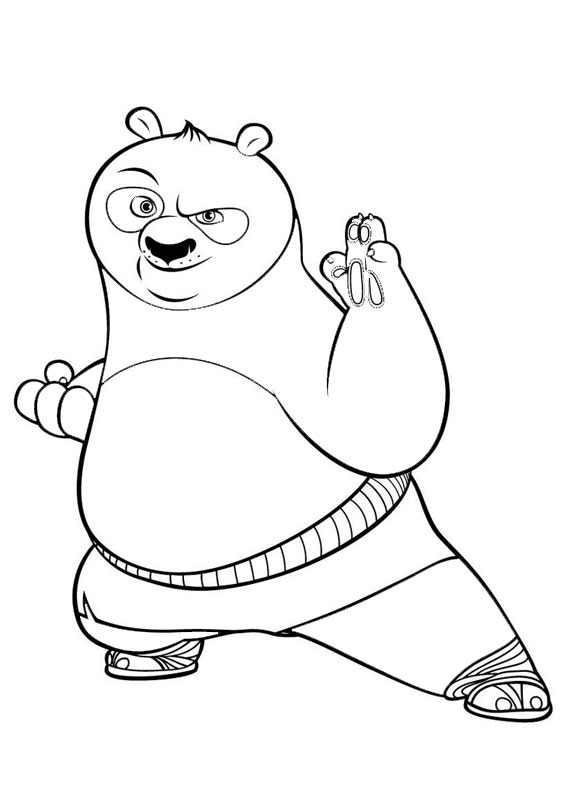 30 Disegni Di Kung Fu Panda Da Colorare Pianetabambini It