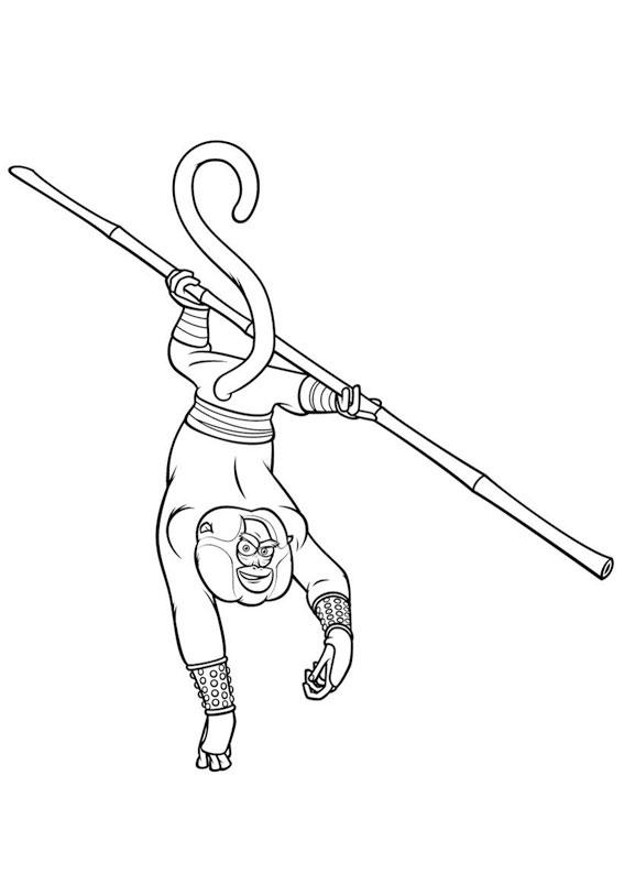 Disegni di kung fu panda da colorare pianetabambini