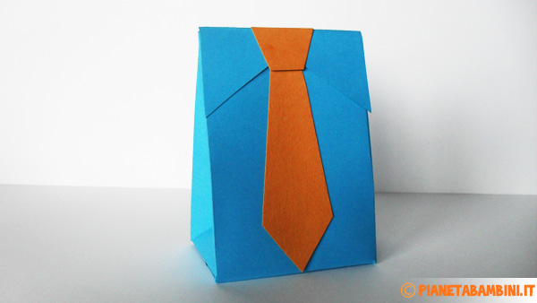 La scatolina regalo per la festa del papà terminata