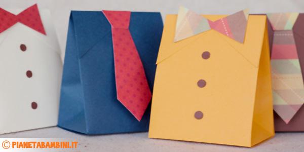 Scatoline regalo fai da te per la festa del pap for Scatole fai da te