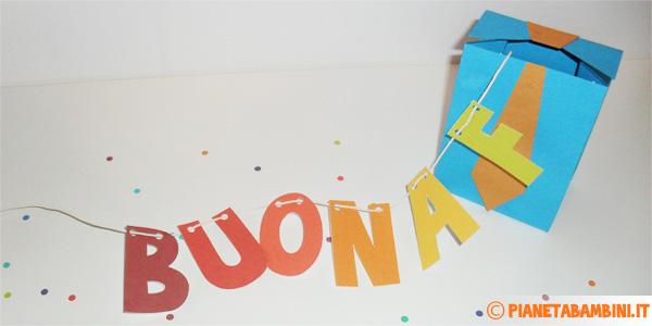 Lettere inserite nella scatolina regalo