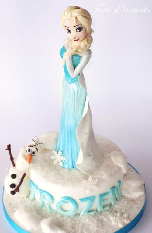 Foto della torta di Frozen n.01