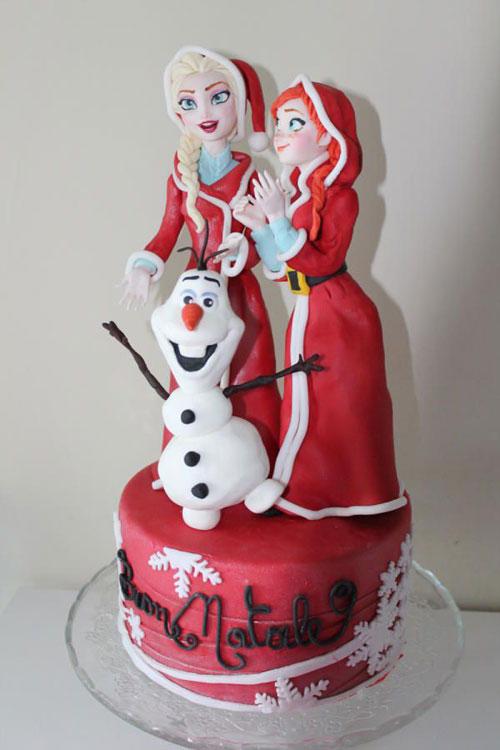 Foto della torta di Frozen n.02
