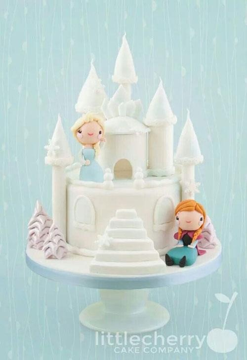 Foto della torta di Frozen n.03