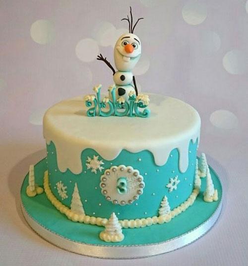 Foto della torta di Frozen n.04