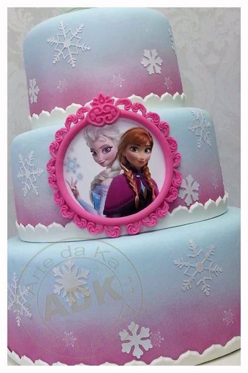 Foto della torta di Frozen n.05