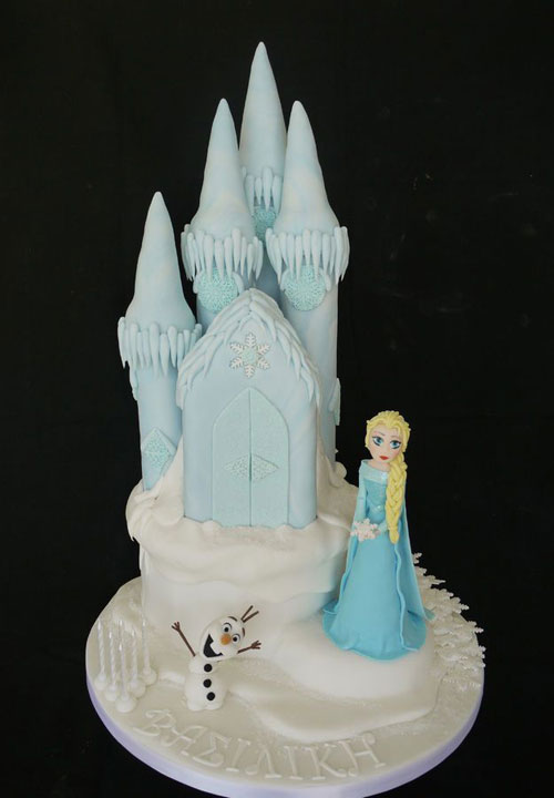 Foto della torta di Frozen n.06
