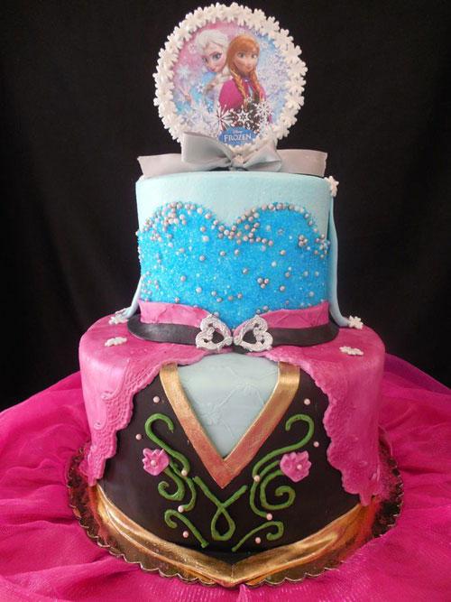 Foto della torta di Frozen n.07