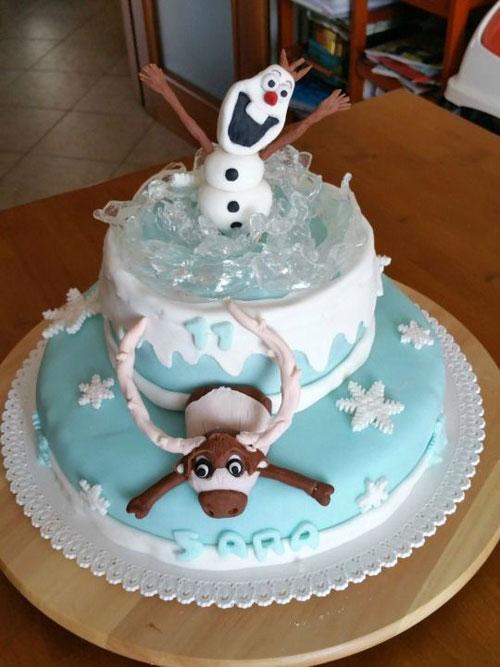 Foto della torta di Frozen n.08