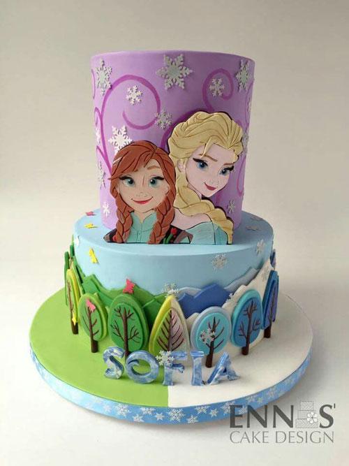 Foto della torta di Frozen n.09