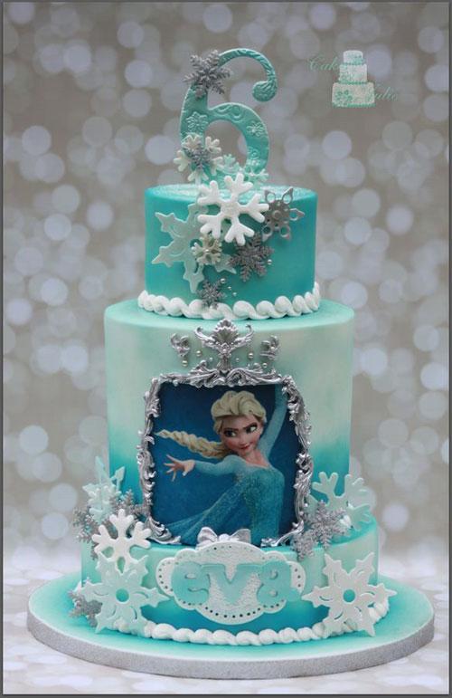 Foto della torta di Frozen n.11