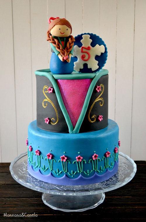 Foto della torta di Frozen n.12
