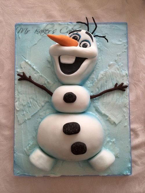Foto della torta di Frozen n.14