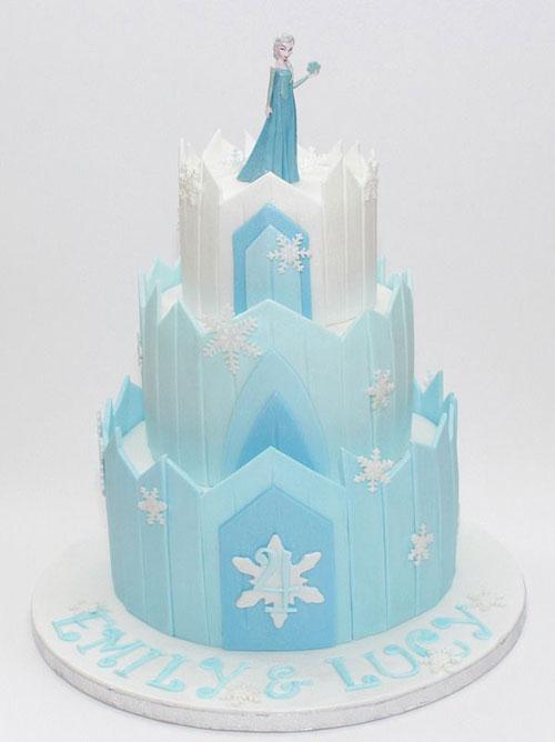 Foto della torta di Frozen n.16