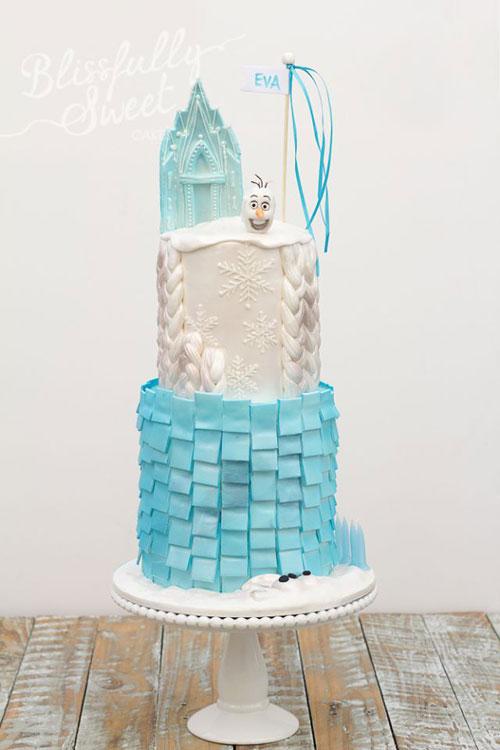 Foto della torta di Frozen n.17