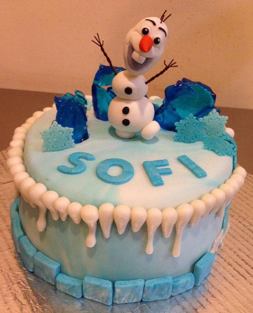 Foto della torta di Frozen n.18
