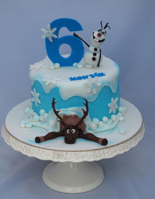 Foto della torta di Frozen n.19