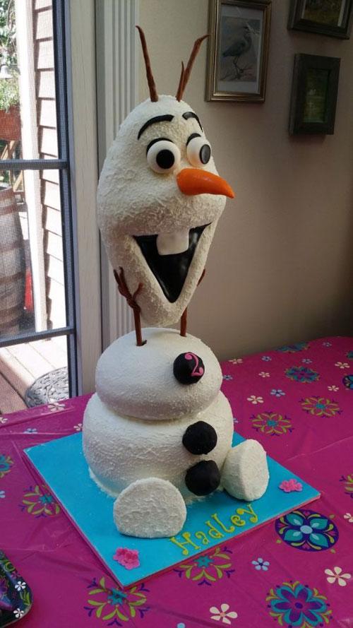 Foto della torta di Frozen n.21