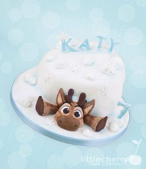 Foto della torta di Frozen n.23