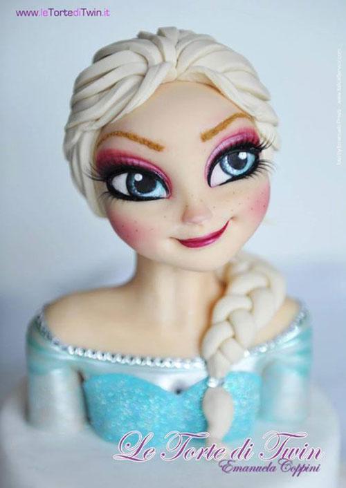 Foto della torta di Frozen n.24