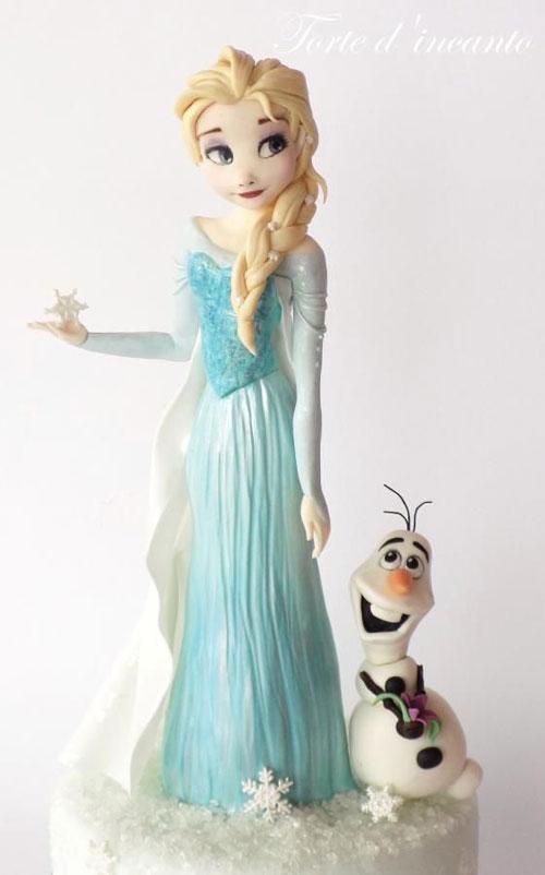Foto della torta di Frozen n.25