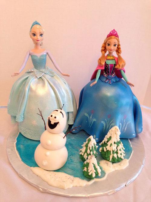 Foto della torta di Frozen n.26