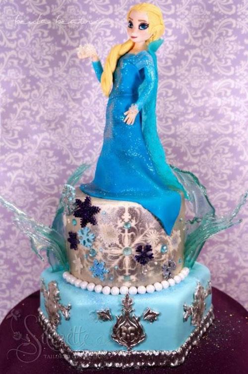 Foto della torta di Frozen n.27