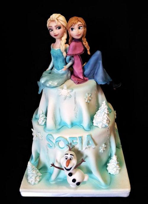 Foto della torta di Frozen n.28