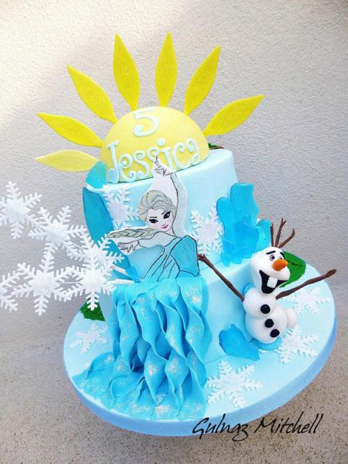 Foto della torta di Frozen n.30
