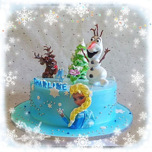 Foto della torta di Frozen n.31