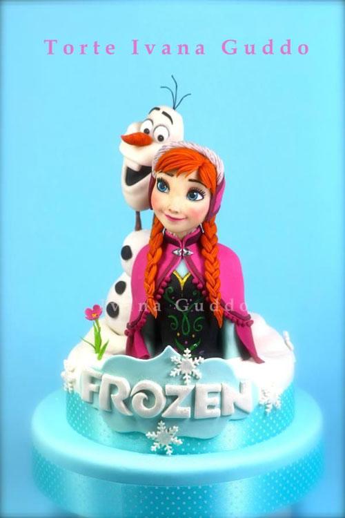 Foto della torta di Frozen n.33