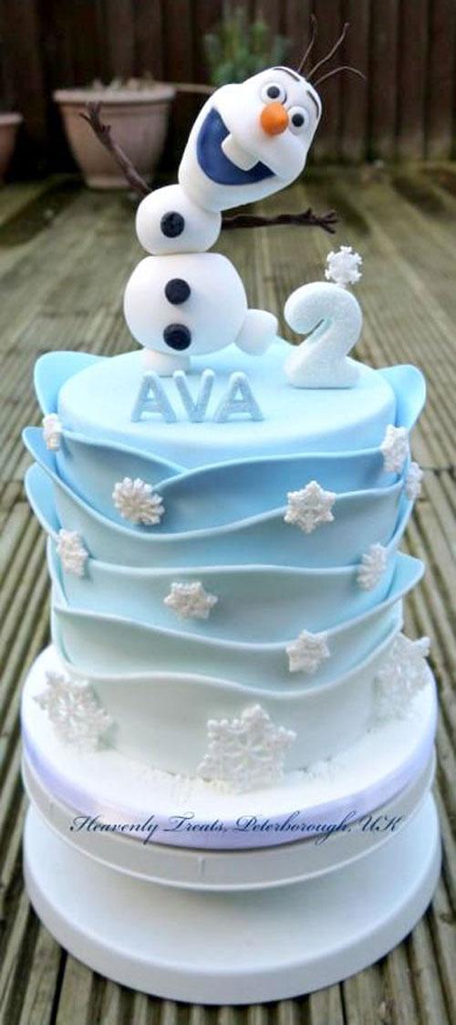 Foto della torta di Frozen n.35