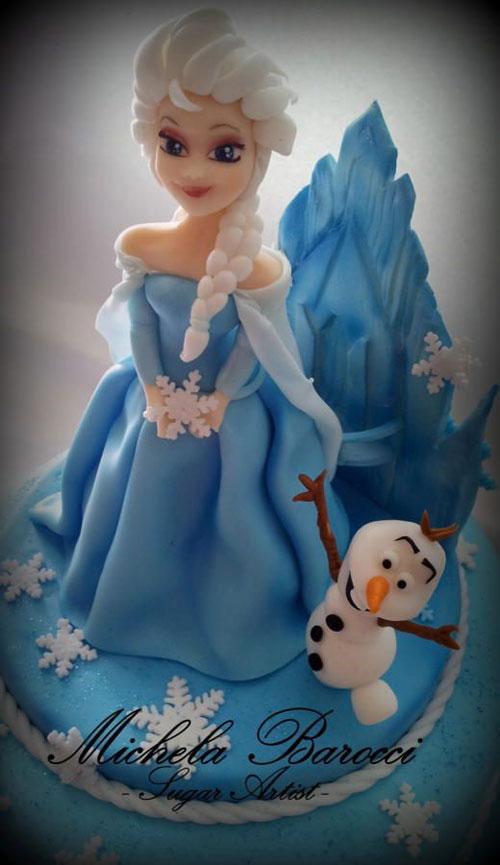 Foto della torta di Frozen n.36