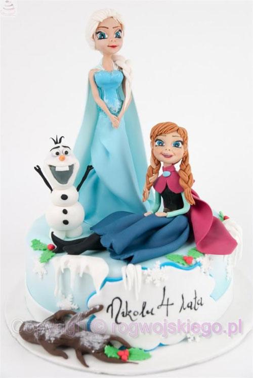 Foto della torta di Frozen n.37