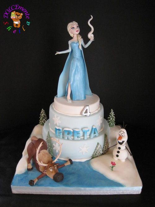 Foto della torta di Frozen n.38