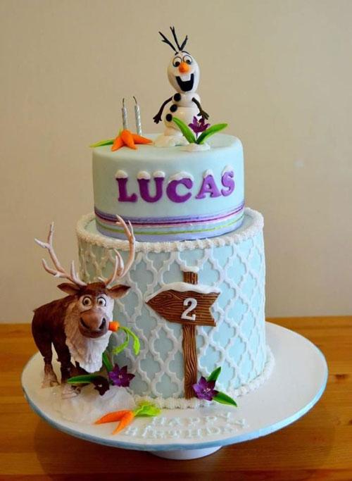 Foto della torta di Frozen n.39