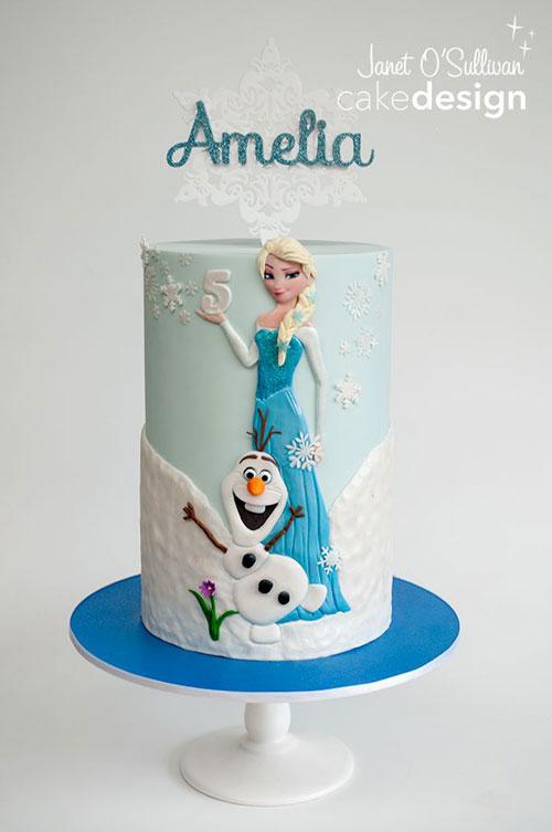 Foto della torta di Frozen n.40