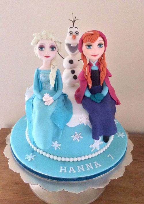 Foto della torta di Frozen n.41